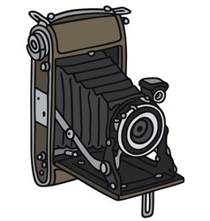 Old photographic camera vector
