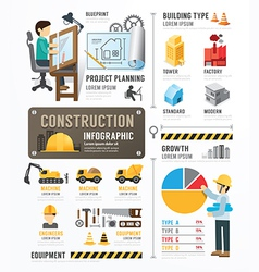 Construction template design infographic vector