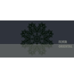 Dark color oriental mandala cover design vector