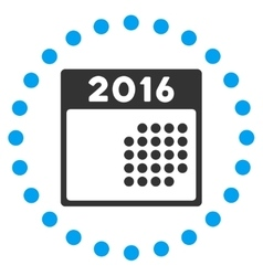 2016 month plan icon vector