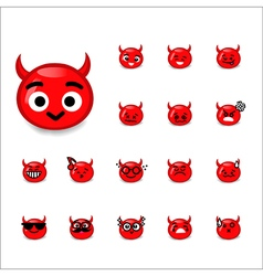 Collection of difference emoticon devil cartoon vector image