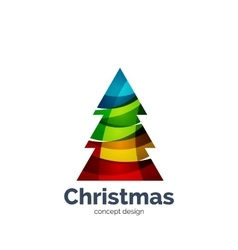 abstract geometric Christmas tree icon vector image