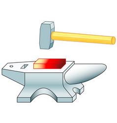 Anvil and hammer vector