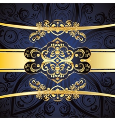 Blue Decorative Background vector image vector image
