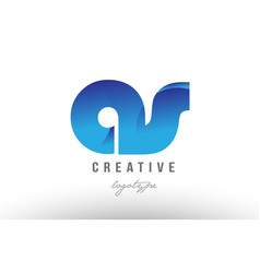 blue gradient as a s alphabet letter logo vector image