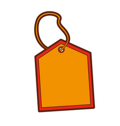 commercial tag hanging icon vector image vector image