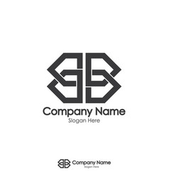 Double initial letter b and mirror logo design vector