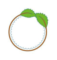 Ecology stamp emblem vector
