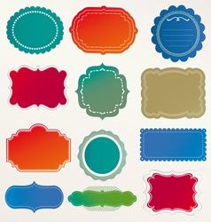 Frame labels set vintage vector