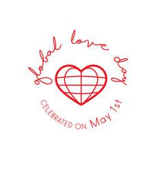 Global love day vector