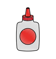 Glue bottle isolated icon vector