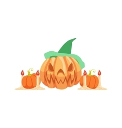 Halloween Pumpkin Lantern As Autumn Attribute vector image