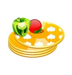 icon pancake vector image vector image