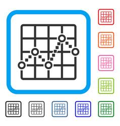 Line plot framed icon vector
