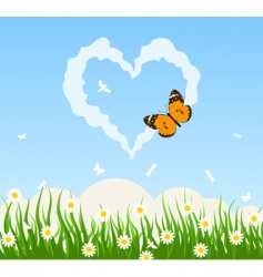 love cloud vector image vector image