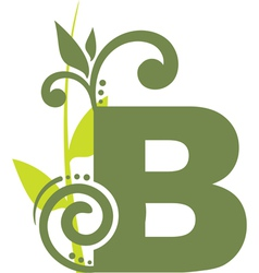 nature B vector image vector image