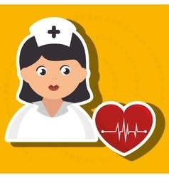 nurse cartoon care medical vector image vector image