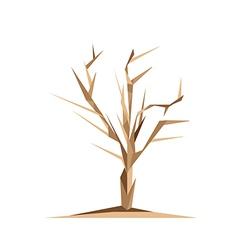Origami Tree vector image vector image