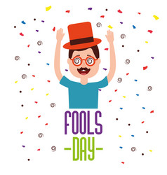 People celebration fools day vector