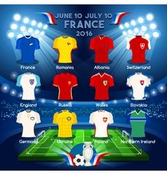 Qualified Teams EURO 2016 vector image vector image
