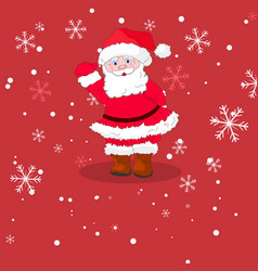 santa claus and snowflakes vector image