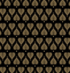 Seamless pattern with leaf thai style vector
