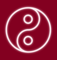 the image of yin and yang vector image