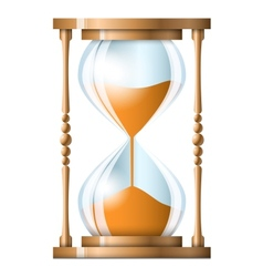Transparent sand hourglass isolated on white vector image vector image
