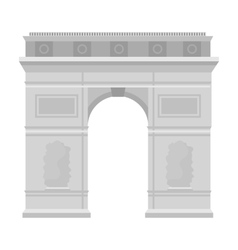 Triumphal arch icon in monochrome style isolated vector