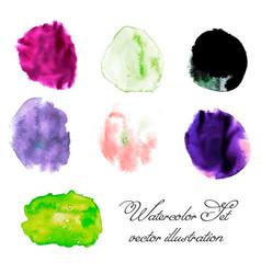 watercolor blots set vector image vector image