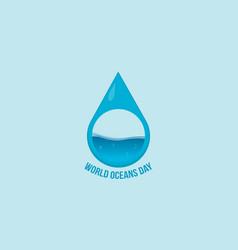 World ocean day design banner collection vector