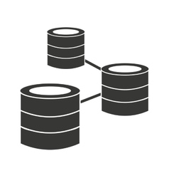 Disk server data storage icon vector