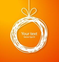 Christmas sketch frame on orange background vector