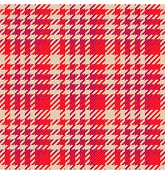 Seamless red gingham comprised by threads vector