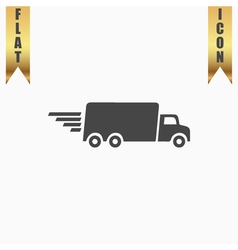 Delivery sign icon vector