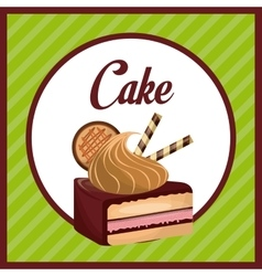 Sweet pastry design vector