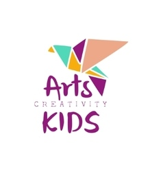 Kids Creative Class Template Promotional Logo With vector image