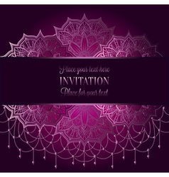 Wedding invitation or card  intricate mandala with vector