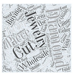 Jewelry wholesale diamonds word cloud concept vector
