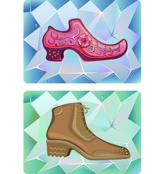 Two stylish man shoe vector
