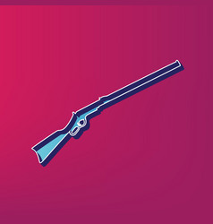 Hunting rifle icon  silhouette vector