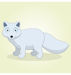 Arctic fox vector