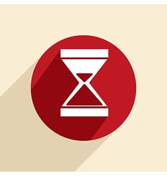 Hourglass waiting vector