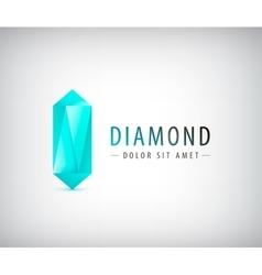 3d diamond crystal logo icon vector