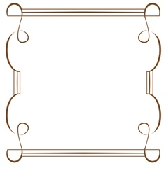 Frame on a white background vector