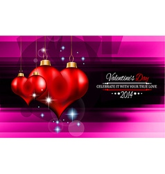 Valentines Day template with stunning hearts vector image