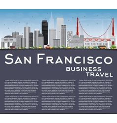 San francisco skyline with gray buildings vector