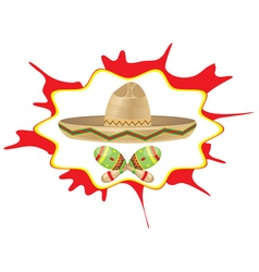 Sombrero and maracas6 vector