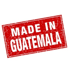 Guatemala red square grunge made in stamp vector