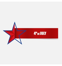 Happy independence day card 4th of july abstract vector